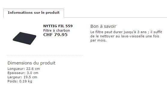 Zanussi Hotte filtre charbon /& graisse 120 x 50